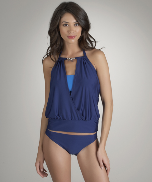 Luxe by Lisa Vogel - Opening Day Peekaboo Tankini